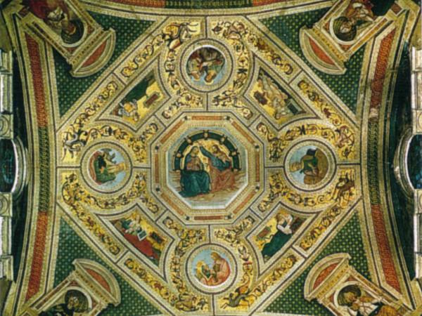 Incoronazione della Vergine, Evangelisti, Dottori e Sibille