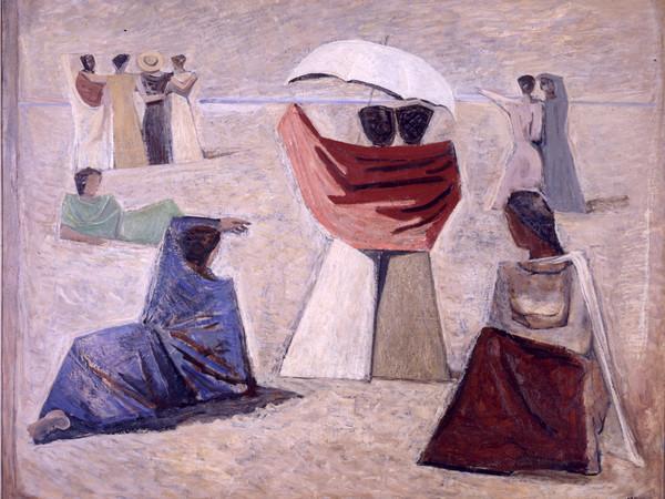 Massimo Campigli, <em>Le spose dei marinai</em>, 1934, Olio su tela | Courtesy of Galleria d'Arte Moderna Roma<br />