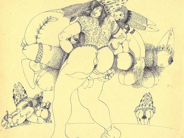 Tono Zancanaro, Movimento giovanile Remo - crì crì, 1946, china a tratto, cm. 28x33