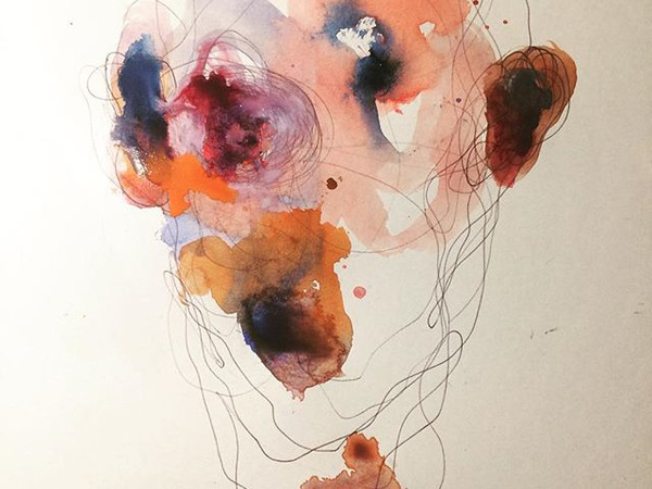 Andrea Romagnoli, Cyclop II, 2017, tecnica mista su carta