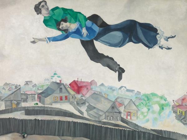 Marc Chagall, <em>Sopra la citt&agrave;</em>, 1914/1918, olio su tela, 197 x 139 cm, Mosca, Galleria di Stato Tretjakov&nbsp;