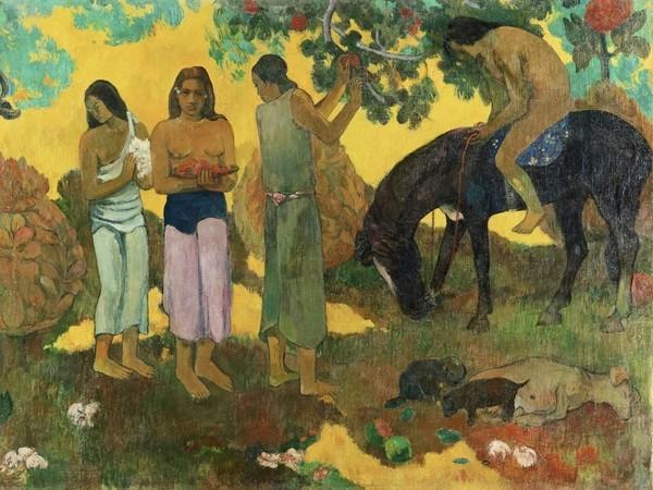 Paul Gauguin, Rupe Rupe - Raccolta di frutta, 1899, Olio su tela, 124 x 83 cm, Museo dell'Ermitage, San Pietroburgo