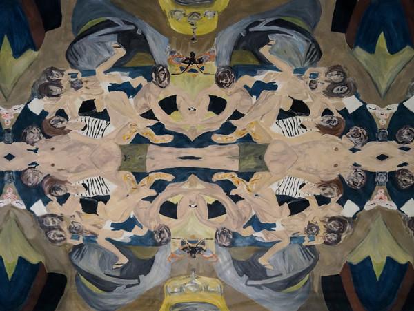Alessandro Giannì, L'apocalisse dell'ora, 2014, olio su tela, cm. 200x300