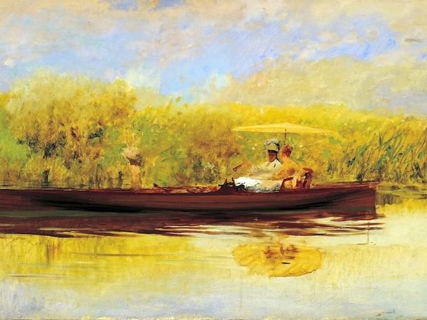 Giuseppe De Nittis, Ora tranquilla, 1874 Olio su tela, cm. 57x92 Collezione privata, Vicenza
