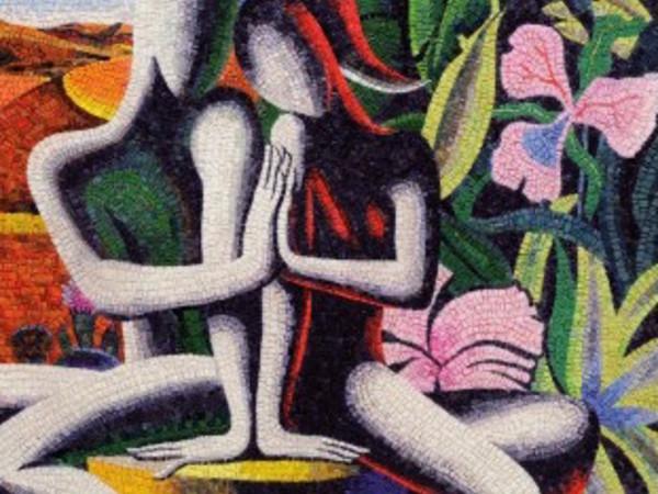 Mark Kostabi, The blossoming of solidarity, 2015