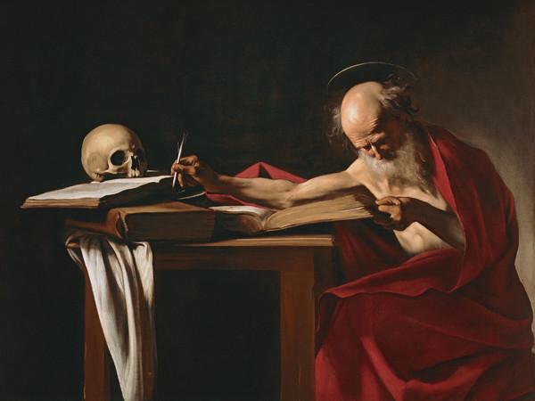 Caravaggio, <em>San Girolamo</em>, 1605-1606, Olio su tela, 157 x 112 cm, Roma, Galleria Borghese<br />