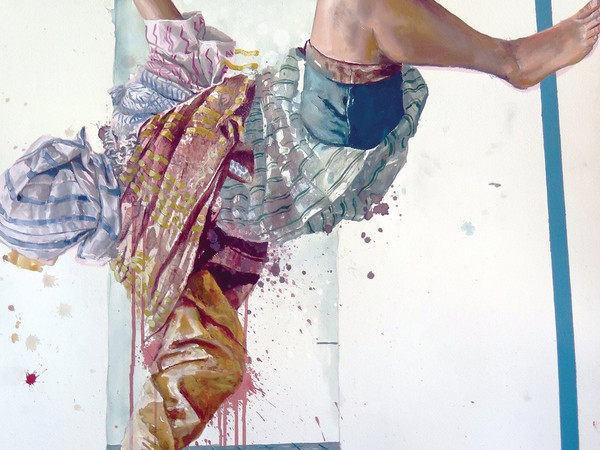 <span>Fintan Magee. The Overdose | Acrylic and oil on paper | 65x90 cm</span>