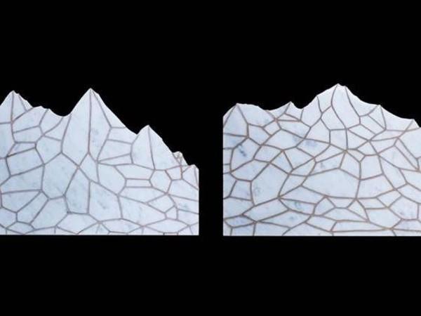 Andreco, I<span>ncisione e bronzatura su marmo (2/3), 34x24x2cm, 2018</span>