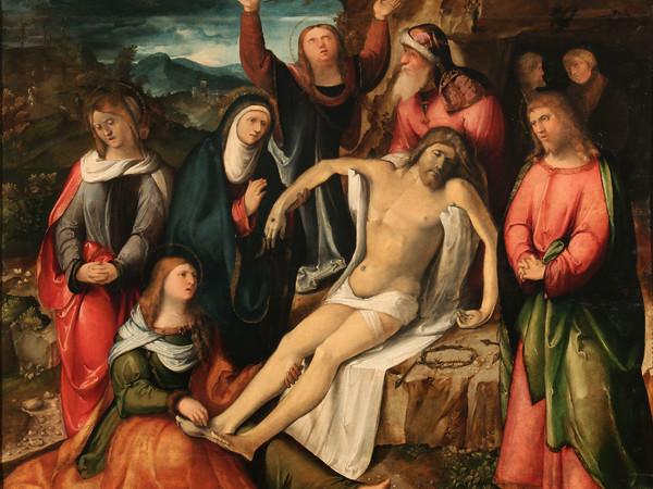 Altobello Melone, Cremona 1490/91 ante 1543, Compianto su Cristo morto. Milano, Arcivescovado