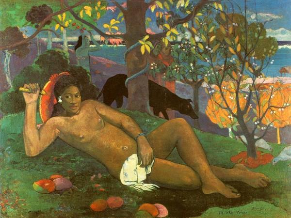 Paul Gauguin, Te Arii Vahine - La donna dei manghi, 1896, Olio su tela, 130 x 97 cm, Mosca, Museo Puškin