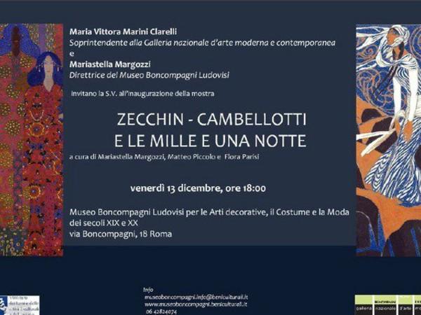 Zecchin - Cambellotti e le mille e una notte, Museo Boncompagni Ludovisi, Roma