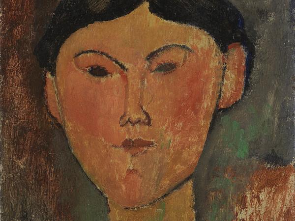 Amedeo Modigliani, <em>Beatrice Hastings</em>, 1915, Olio su cartone riportato su tavola, 26.5 x 35 cm, Museo del Novecento, Collezione Jucker, Milano