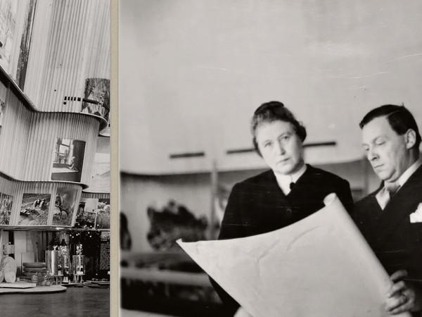 Aino and Alvar Aalto in New York world´s Fair Finnish Pavilion 1939