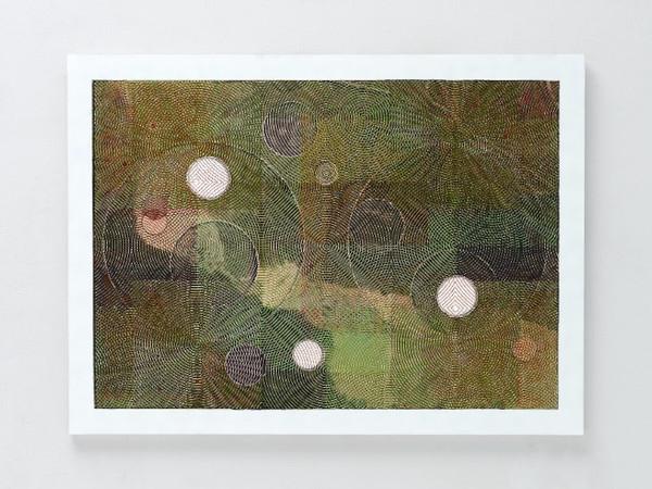 Luigi Carboni, Dare visibilità, 2016, acrilico e olio su tela, 150x200 cm