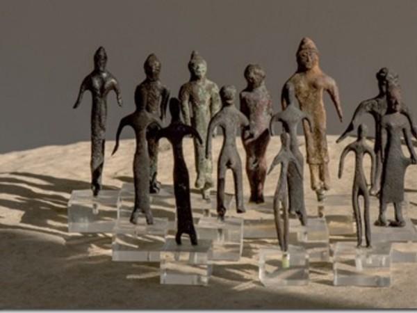 Bronzetti votivi esposti nel Museo Nazionale Etrusco di Marzabotto