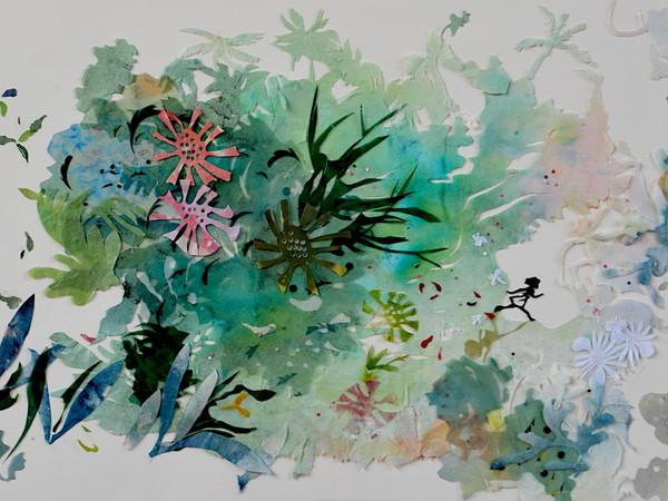 Clementina Mingozzi, dalla serie Little Girl, Fuori Ombra Dentro, papirografia colorata