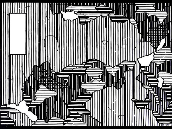 StenLex, Confini I, 2019, stencil poster