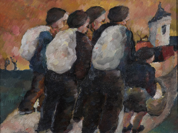 Jean Corty, Emigranti, olio su tavola