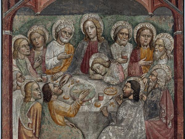Anonimo lombardo, secolo XV, Ultima Cena, affresco strappato riportato su tela I Ph. Antonio Mazza, Lodi
