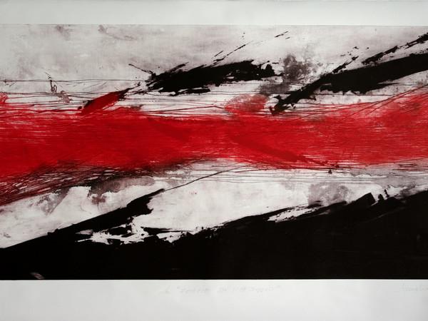 """Salvatore Lovaglio, Da """"forme di paesaggio"""", 2009, acquatinta e carburundum, 123 x 203 cm"""