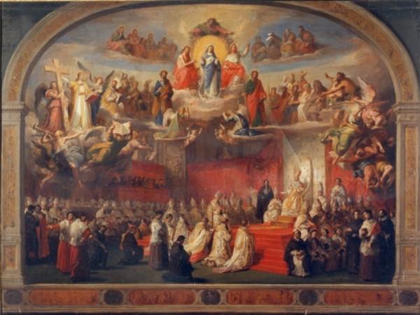 Francesco Podesti, Proclamazione del dogma dell'Immacolata Concezione, olio su tela. Ancona, Pinacoteca Civica