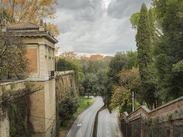 Andrea Jemolo, Il Muro Torto dal ponte di Villa Borghese, stampa a getto di inchiostro, cm. 85x111