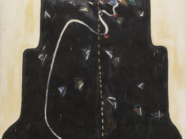 Gianni Madella,<em>Trono</em><span>, 1969, olio su tela, 170 x 130 cm.</span><br /><span><br /></span>
