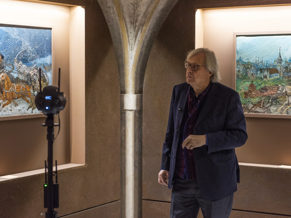 Vittorio Sgarbi in visita alla mostra Ligabue e Vitaloni. Dare voce alla natura I Ph. Edoardo Fornaciari