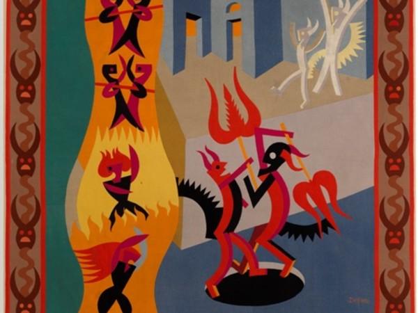Depero, Panno Diavoletti neri e bianchi, Danza di diavoli