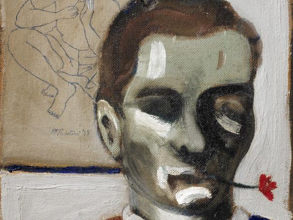 Pier Paolo Pasolini, Autoritratto con fiore in bocca