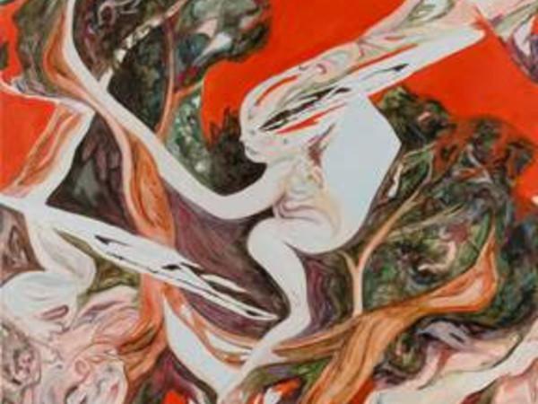 Alessandro Giannì, Senza titolo (det., 2018; olio su tela, dittico, cm. 200x170 cad.