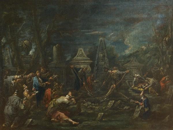 Alessandro Magnasco, Funerale ebraico, olio su tela