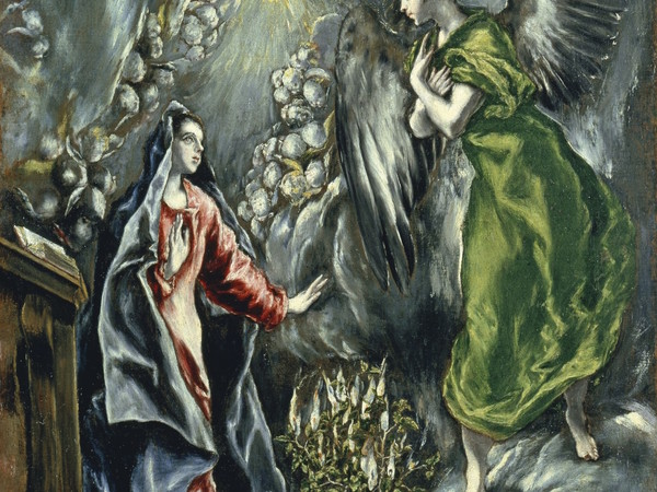 El Greco, L'Annunciazione, 1954 (part.)