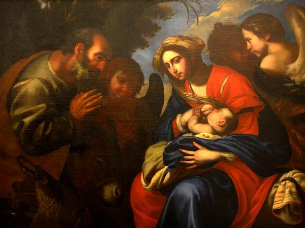 Francesco De Rosa detto Pacecco, Riposo nella fuga in Egitto, 1645. Galleria Nazionale di Palazzo Arnone a Cosenza