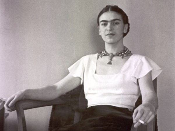 Frida Kahlo by Lucienne Bloch | &copy; Lucienne Bloch<br />