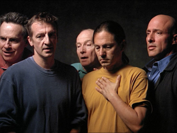 Bill Viola, The Quintet of the Silent, 2000. Color video on flat panel display mounted on wall, 72.4 x 120.7 x 10.2 cm, 16:28 minutes. Performers: Chris Grove, David Hernandez, John Malpede, Dan Gerrity, Tom Fitzpatrick