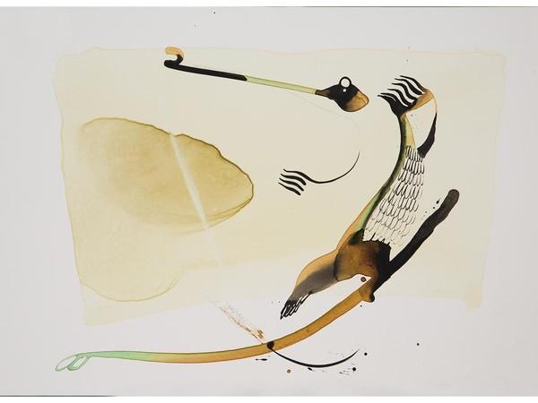 Bato, Coccodrillo, tecnica mista sulla tela, 100x150 cm.
