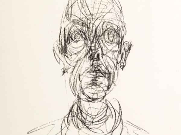 Alberto Giacometti, Tête d'homme II, 1961, Litografia, 26 x 19,6 cm, parte litografata, Collezione E. W. K.
