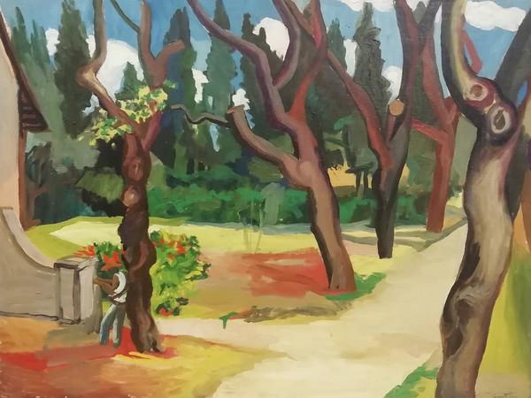 Renato Guttuso,<em> Passeggiata nel parco</em>, 1948, olio su tela, cm. 50 x 75
