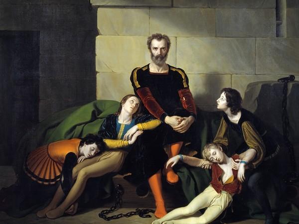 Giuseppe Diotti, <em>Il conte Ugolino nella torre</em>, 1832, olio su tela. Brescia, Musei Civici. Provenienza: legato Paolo Tosio, 1844 I Ph. Fotostudio Rapuzzi