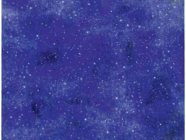 Natale Addamiano, Le stelle dopo la pioggia, 2017, acrilico su tela, 80x80 cm.