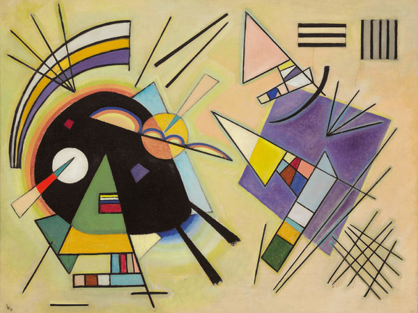 Vassily Kandinsky, Black and Violet, 1923