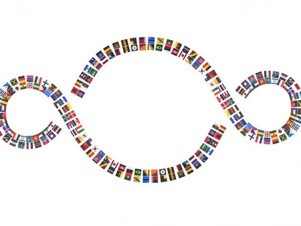 Michelangelo Pistoletto, Angelo Savarese. La Bandiera del Mondo 1+1=3