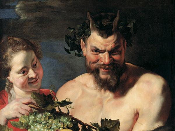 Peter Paul Rubens, Satiro e fanciulla con canestro di frutta (part.), ca. 1615