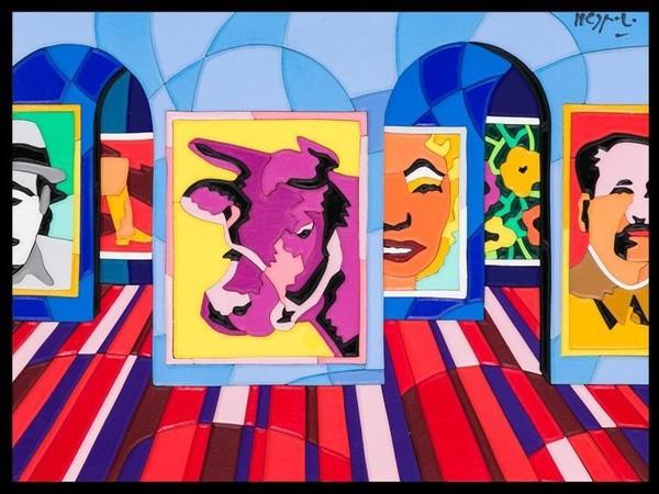Ugo Nespolo, <em>Pop Time</em>, 1990
