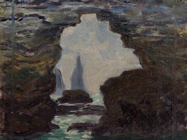 Claude Monet, <em>Étretat</em>, 1885 ca., olio su tela. Dimensioni senza cornice: 24 x 35 cm
