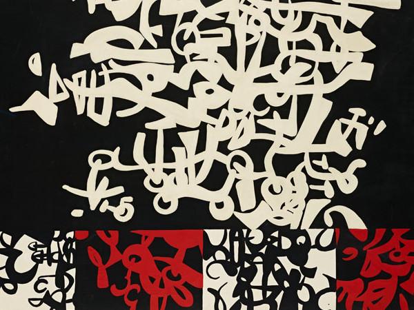 Carla Accardi, Labirinto con settori (Bianconerorosso), dettaglio, 1958. Mart, Deposito da collezione privata