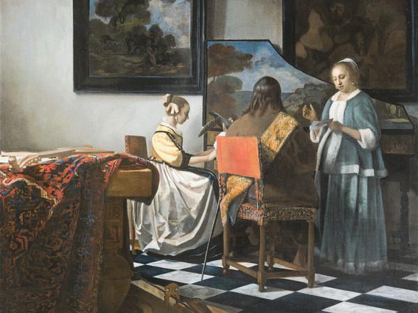 <span>Johannes Vermeer, <em>Concerto a tre</em>, 1663-1666. Rubato all'Isabella Stewart-Gardner Museum di Boston nel 1990</span>