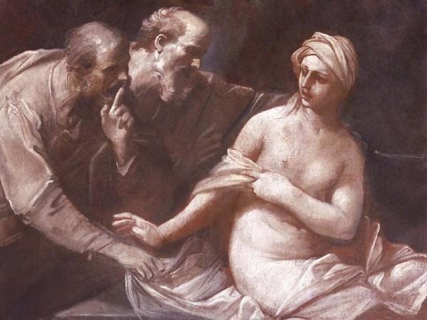 Guido Reni, Susanna e i vecchioni, 1630 circa, olio su tela, cm 104x140, Collezione privata