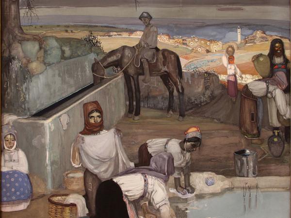 Giuseppe Biasi, Mattino in un villaggio sardo, 1912, Sassari, Pinacoteca Nazionale | Courtesy of MIBACT, Polo Museale della Sardegna